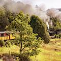 Durango Railroad Blowing Smoke - Colorado Mountain Landscape by Gregory Ballos