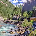 Durango Silverton Colorado Train Along The Animas River by Gregory Ballos