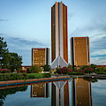Dusk Reflections Of The Tulsa Cityplex Towers by Gregory Ballos