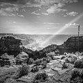 Eagle Rock, Grand Canyon In Black And White by Max Huber