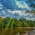 Early Autumn On Lake Newport by Janice Pariza