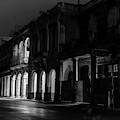 Early Morning Paseo Del Prado Havana Cuba Bw II by Joan Carroll