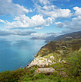 Early Morning View Of Cinque Terre Italy by Joan Carroll