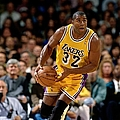 Earvin Magic Johnson Action Portrait by Andrew D. Bernstein