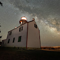 East Point Lighthouse Under The Milky Way  by Michael Ver Sprill