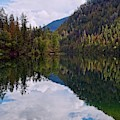 Echo Lake Early Autumn Reflection by Allan Van Gasbeck