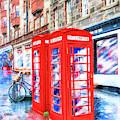 Edinburgh Red Phone Box by Mark Tisdale