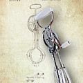 Eggbeater With Antique Eggbeater Patent by Tom Mc Nemar