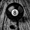 Eight Ball On Wooden Board by Garry Gay