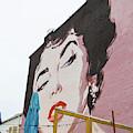 Eiizabeth Taylor Mural Washington Dc by Edward Fielding