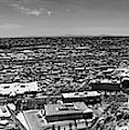 El Paso, Texas Panorama In Black And White  by Chance Kafka