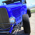 Electric Blue Hot Rod Roadster by David King
