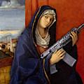 Guns Weapon Painting Parody Funny Gun Guns by Tony Rubino