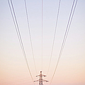 Electricity Power Pylon In Mist by Terry Donnelly Arps
