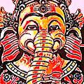 Elephant Face by Modern Art