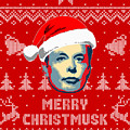 Elon Musk Merry Christmusk by Filip Hellman
