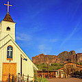 Elvis Chapel At Apacheland, Superstition Mountains by Dawn Richards