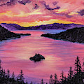 Emerald Bay Sunset by Darice Machel McGuire