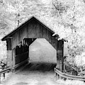 Emilys Covered Bridge In Black And White by Jeff Folger