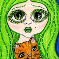 Emo Girl Green by Tambra Wilcox