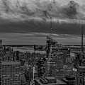 Empire State Building World Trade Center  Nyc Bw by Susan Candelario