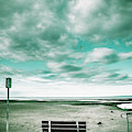 Empty Beach Bench by Jorgo Photography - Wall Art Gallery
