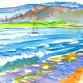 En Plein Air Rive Exe Sailing Riverscape by Mike Jory