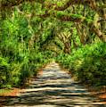 Endless Shadows Main Road Cumberland Island National Seashore Georgia Landscape Art by Reid Callaway