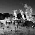 Enjoying The Hot Springs At El Tatio Geysers Chile by James Brunker