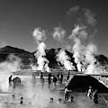Enjoying The Thermal Baths At El Tatio Geysers Chile by James Brunker