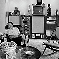 Entertainer Frank Sinatra Relaxing W by John Dominis