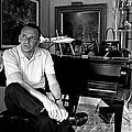 Entertainer Frank Sinatra Sitting On by John Dominis