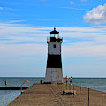 Erie Harbor North Pier Light by Jill Lang