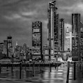 Esb Nyc Hudson Yards Skyline Bw by Susan Candelario