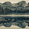 Estes Park Colorado Mountain Range Landscape Panorama - Sepia Edition by Gregory Ballos