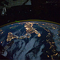 Italy From Space At Night by NASA Johnson Space Center
