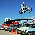 Evel Knievel In Flight by Ralph Crane