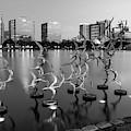 Evening At Lake Eola - Orlando Florida Monochrome by Gregory Ballos