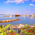 Evening At The York River In Yorktown Virginia by Ola Allen