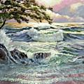 Evening Beach by David Lloyd Glover