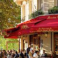 Evening Cafe - Paris by Brian Jannsen