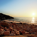Evening Glow At Porth Nanven by Terri Waters
