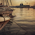 evening harbor  in Toulon, France by Ariadna De Raadt