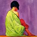 Evening Iris by Lorraine Germaine