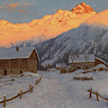 Evening On The Mountain by Ivan Fedorovich Choultse