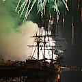 Exploding Fireworks Over Salem's Friendship by Jeff Folger