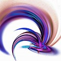 Exploding Palette Abstract Art Purple by Don Northup