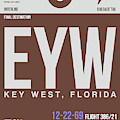 Eyw Key West Luggage Tag II by Naxart Studio
