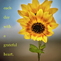 Face Each Day With A Grateful Heart  by Harriet Feagin