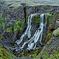 Fagrifoss Waterfall Scenic by Anthony Dezenzio